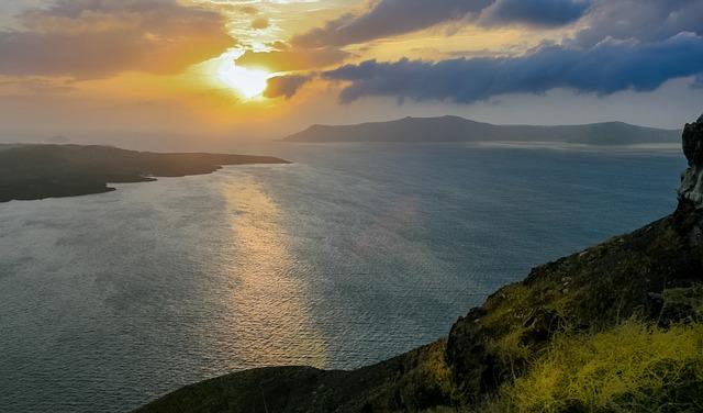 ostrov santorini